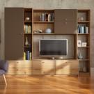 Biblioteca living Alice, A458 + maro, 248 cm, 4C