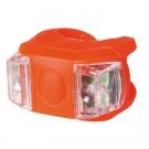 Set lampa LED silicon pentru bicicleta Home BV 11 + baterie CR 2032, 0.4W