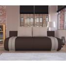 Canapea extensibila 3 locuri Ianis, cu lada, maro + crem, 190 x 92 x 86 cm 1C