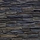 Piatra decorativa, interior / exterior, Carpati 06, gri inchis si negru (cutie = 0.5 mp)