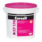 Tencuiala decorativa siliconica - silicatica Ceresit CT 174, 1.5 mm, structurata, aspect bob de orez, alb, interior / exterior, 25 kg