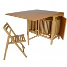 Set masa plianta cu 6 scaune, bucatarie, Cucina, natur, 2C