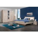 Dormitor complet Hana, stejar gri, 4 piese, 11C