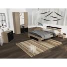 Dormitor Raul - dulap stejar bardolino+magia cu oglinda