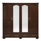 Dulap dormitor Berry, nuc, cu oglinda, 196.8 x 60 x 196.5 cm, 4C