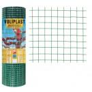 Plasa gard ornamental Voliplast, acoperita cu PVC, verde, 0,5 x 10 m (1,2 x 16 x 16 mm)