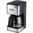 Cafetiera Samus Fantasy, 680 W, 0.8 litri, capacitate 6 cesti, functie antipicurare, negru + argintiu