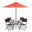 Set terasa masa cu 4 scaune si umbrela TJF-R407