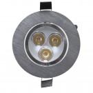 Spot LED incastrat MT 115 70317, 3W, lumina neutra, aluminiu