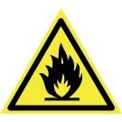 Indicator incendiu substante inflamabile 15x15x15 cm