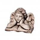 Statuie Ingeras ganditor, decoratiune gradina, beton, 25 x 16 x 18 cm