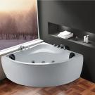 Cada baie cu hidromasaj simetrica, pe colt, Korra K-1080, 140 x 140 cm