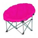 Scaun camping pliant Luna roz D10121A structura metalica roz 80 x 80 x 76 cm