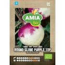 Seminte legume bio Amia, nap Round globe purple top
