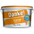 Tencuiala decorativa acrilica, interior / exterior, Danke Textur, alb, structurata, 25 kg