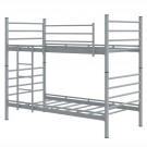 Pat dormitor Damla, dublu, supraetajat, gri, 90 x 200 cm, 2C