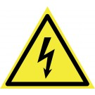 Indicator pericol electrocutare 15x15x15 cm