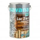Lac pentru lemn Savana garduri si cabane, mahon, pe baza de apa, interior / exterior, 5 L