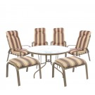 Set masa cu 4 scaune si 2 tabureti cu perne pentru gradina Maya TG-6001 din metal