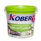 Tencuiala decorativa cu fibra carbon Kober Profesional, 1.5 mm, structurata, aspect scoarta de copac, susan, interior / exterior, 25 kg