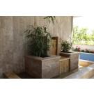 Piatra naturala decorativa travertin multicolor scapitat, interior / exterior, 10 x 2,2 cm