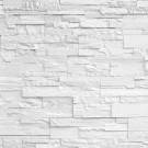 Piatra decorativa, interior, Modulo Vista Ice, alb (cutie = 1 mp)