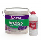 Vopsea lavabila alba pentru interior, Weiss 15 L + amorsa 3 L