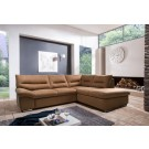 Coltar living extensibil pe stanga William 2F-OTM/BK, maro, 268 x 216 x 87 cm, 2C