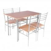Set masa fixa cu 4 scaune AA0200, bucatarie, natur