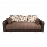 Canapea extensibila 3 locuri Ultra, cu lada, maro deschis + wenge, 222 x 104 x 75 cm, 1C