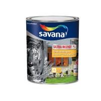 Vopsea acrilica pentru lemn / metal, Savana Ultrarezist cu Teflon, interior / exterior, pe baza de apa, alb, 0.75 L
