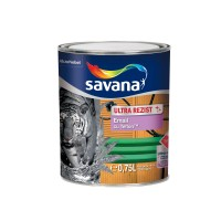 Vopsea alchidica pentru lemn / metal, Savana Ultrarezist cu teflon, interior / exterior, brun, 0.75 L