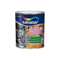 Vopsea alchidica pentru lemn / metal, Savana Ultrarezist cu teflon, interior / exterior, negru, 0.75 L