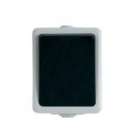 Intrerupator cap scara simplu Unitec 46240L, aparent, alb