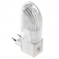 Lampa de veghe 44559, bec inclus, 5W, cu senzor lumina, alimentare priza, alba