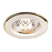 Spot incastrat ELC 146 70012, GU10, perla aur / argint