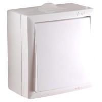 Intrerupator simplu Elegant IMBS 045358, aparent, rama inclusa, alb