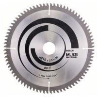Disc circular, pentru aluminiu / lemn / plastic, Bosch 2608640447, 216 x 30 x 2.5 mm