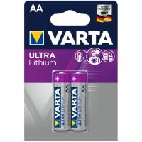 Baterie Varta Ultra Lithium 6106, AA / R6, litiu, 2 buc