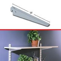 Suport pentru rafturi, model U, metal, alb, 370 mm