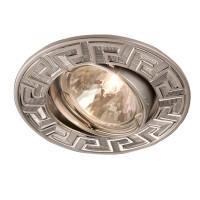 Spot incastrat ELC 329 70096, GU10, orientabil, crom / perla crom