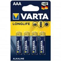 Baterie Varta Longlife 4103, AAA / LR3, 1.5V, alcalina, 4 buc
