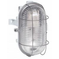 Aplica ovala 060419, 1 x E27 (max. 100W), IP44 gri metal