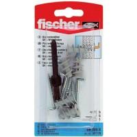 Diblu pentru gips carton, din nylon, cu carlig in vinclu, Fischer GK, 22 mm, 5 bucati