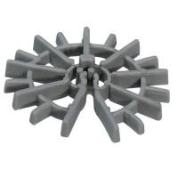 Distantier circular pentru armaturi verticale Dakota, plastic termoranforsat, 25 x 4 x 12 mm