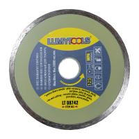 Disc diamantat, continuu, pentru debitare placi ceramice / marmura / sticla / piatra, Lumytools LT08742, 125 x 22 x 2 mm