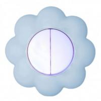 Intrerupator dublu Metalka-Majur Happy 1636004, incastrat, rama inclusa, floare, alb cu bleu