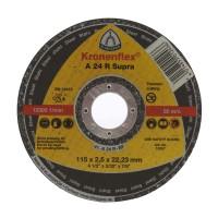Disc debitare inox, Klingspor A 24 R Supra, 115 x 22.23 x 2.5 mm