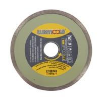 Disc diamantat, continuu, pentru debitare placi ceramice / marmura / sticla / piatra, Lumytools LT08741, 115 x 22 x 2 mm