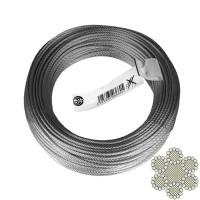 Cablu comercial, din otel zincat, pentru ancorari usoare, colac 50 m x 2 mm / bucata